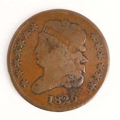 Low Mintage 1825 Classic Head Half Cent