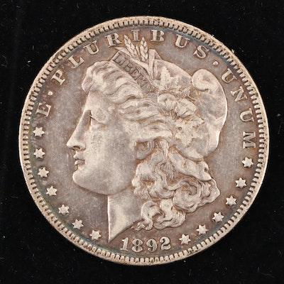 1892-O Morgan Silver Dollar