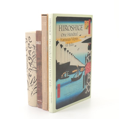 "Art Books Featuring ""Hiroshige; 100 Famous Views of Edo,"" Set of 4"
