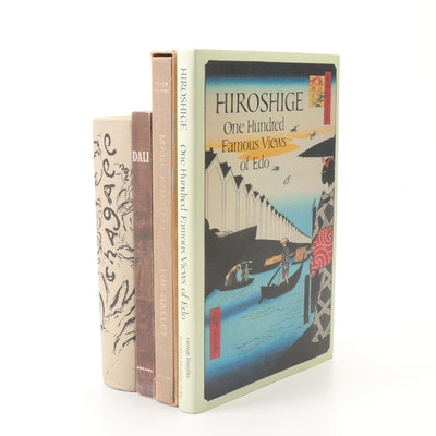 "Art Books Featuring ""Hiroshige; 100 Famous Views of Edo,"" Set of 4"