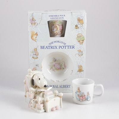 Peter Rabbit and Snoopy China Featuring Wedgwood, Lenox, and Royal Albert