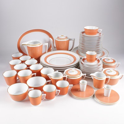 "Royal Copenhagen ""Jaegersborg"" Pattern Coffee Set and Dinnerware"
