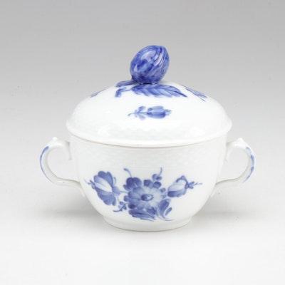 "Royal Copenhagen ""Blue Flower"" Pattern Lidded Bowl"