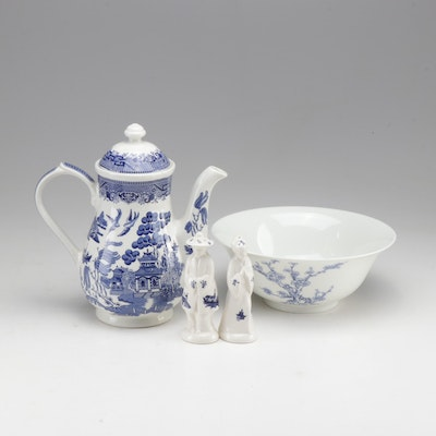 Blue and White Asian Theme Ceramic Housewares