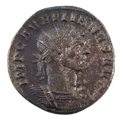 Ancient Roman Imperial Antoninianus Coin of Aurelian, ca. 272 A.D.