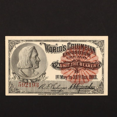 An 1893 World's Columbian Exposition Admission Ticket