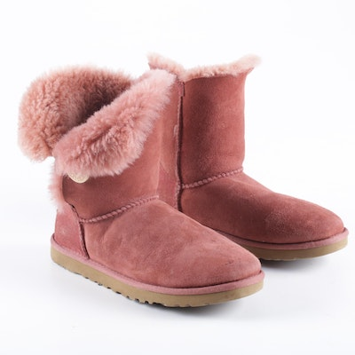 UGG Australia Pink Sheepskin Shearling Lined Boots