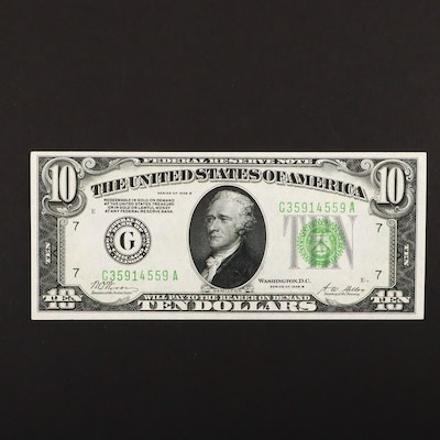 Series of 1928-B U.S. $10 Federal Reserve Note