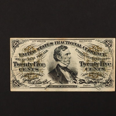 1863 U.S. 25-Cents Fractional Currency Note