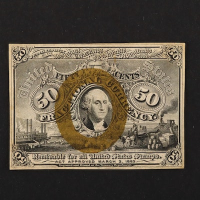1863 U.S. 50-Cents Fractional Currency Note