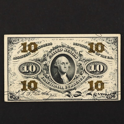 1863 U.S. 10-Cents Fractional Currency Note