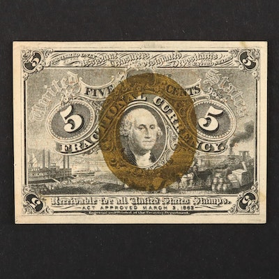 1863 U.S. 5-Cents Fractional Currency Note