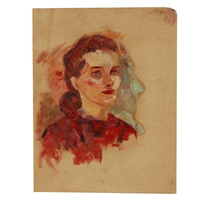 Robert Whitmore Bust Oil Portrait of a Woman