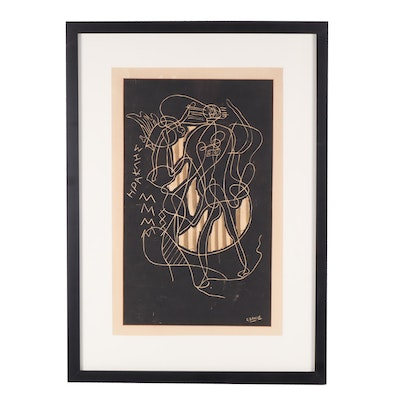 """Georges Braque Lithograph """"Hercules"""""""
