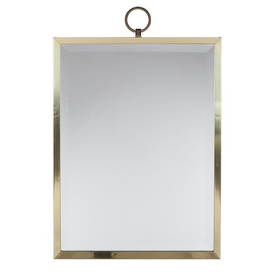 Brass Tone Framed Wall Mirror, Style of Tommi Parzinger