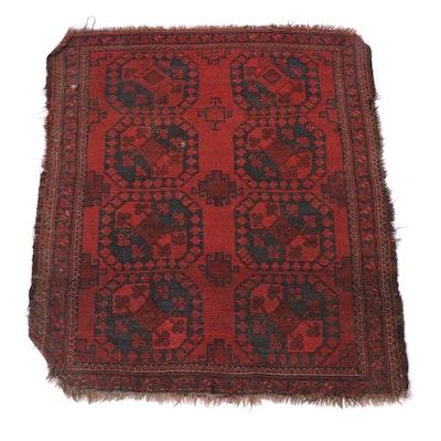 Hand-Knotted Afghani Bokhara Rug
