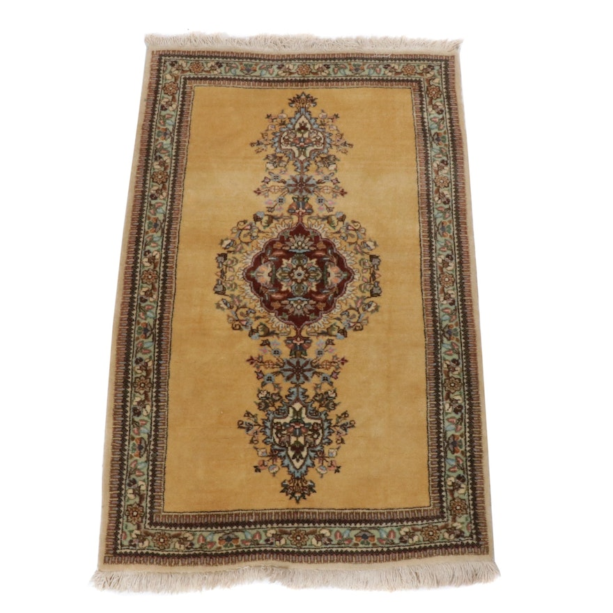 Hand-Knotted Persian Kerman Rug