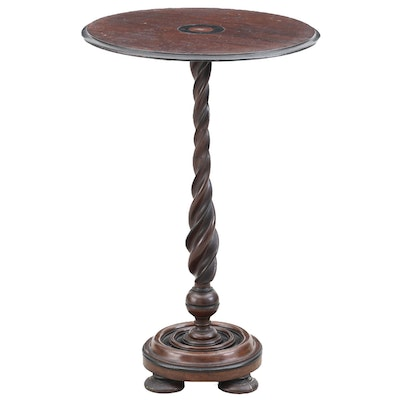 English Mahogany Candlestand, Late 19th Century
