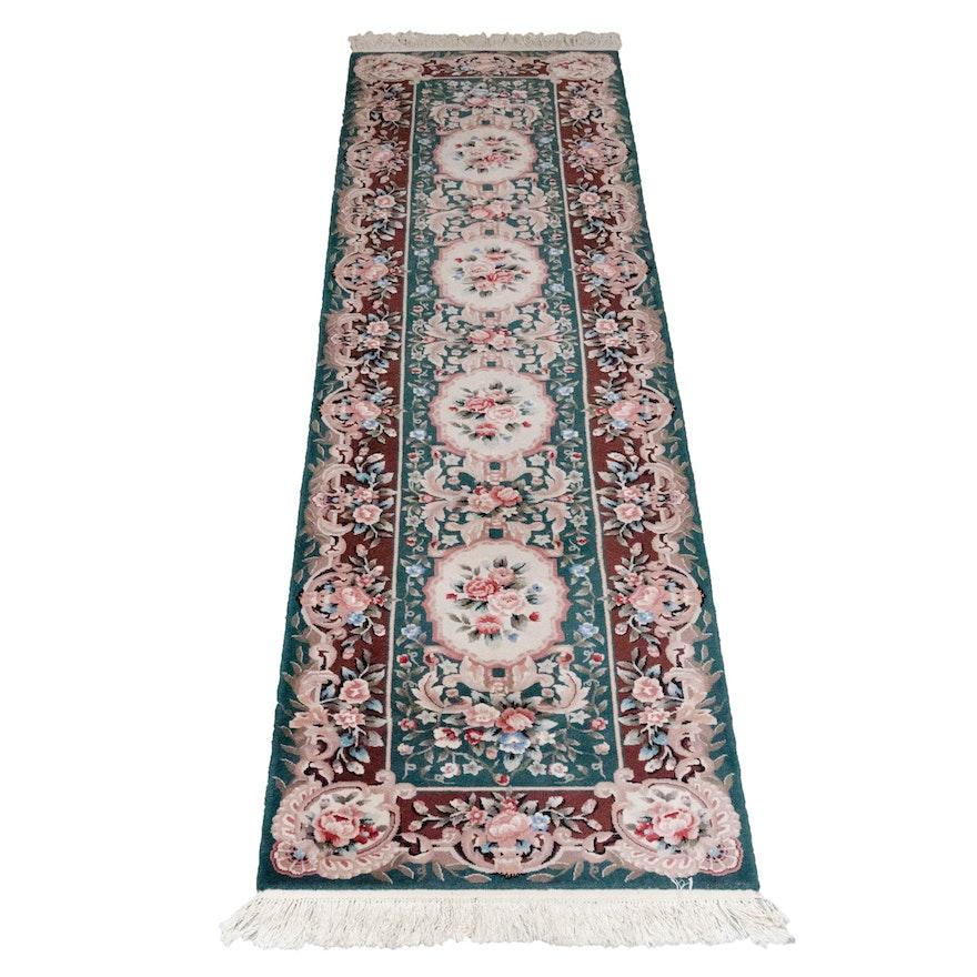 Rug Gallery Hand-Hooked Floral Wool Runner