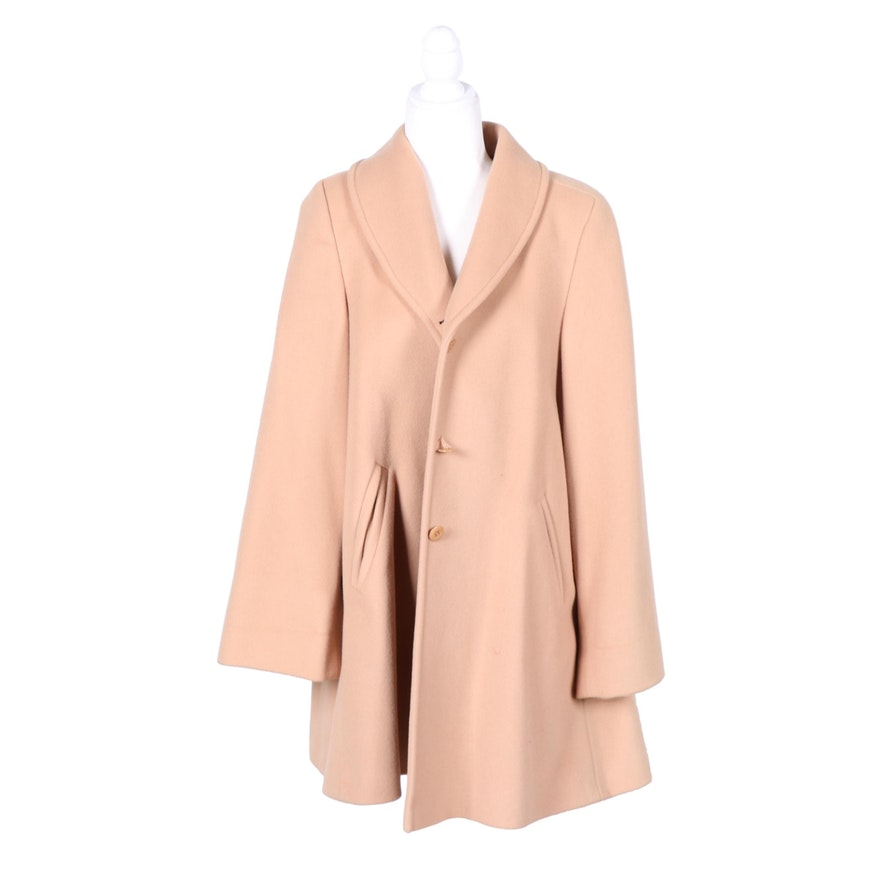 Joan and David Wool and Cashmere Swing Coat