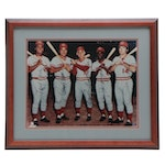 "Framed ""Big Red Machine"" Signed Photo Print  COA Sticker"