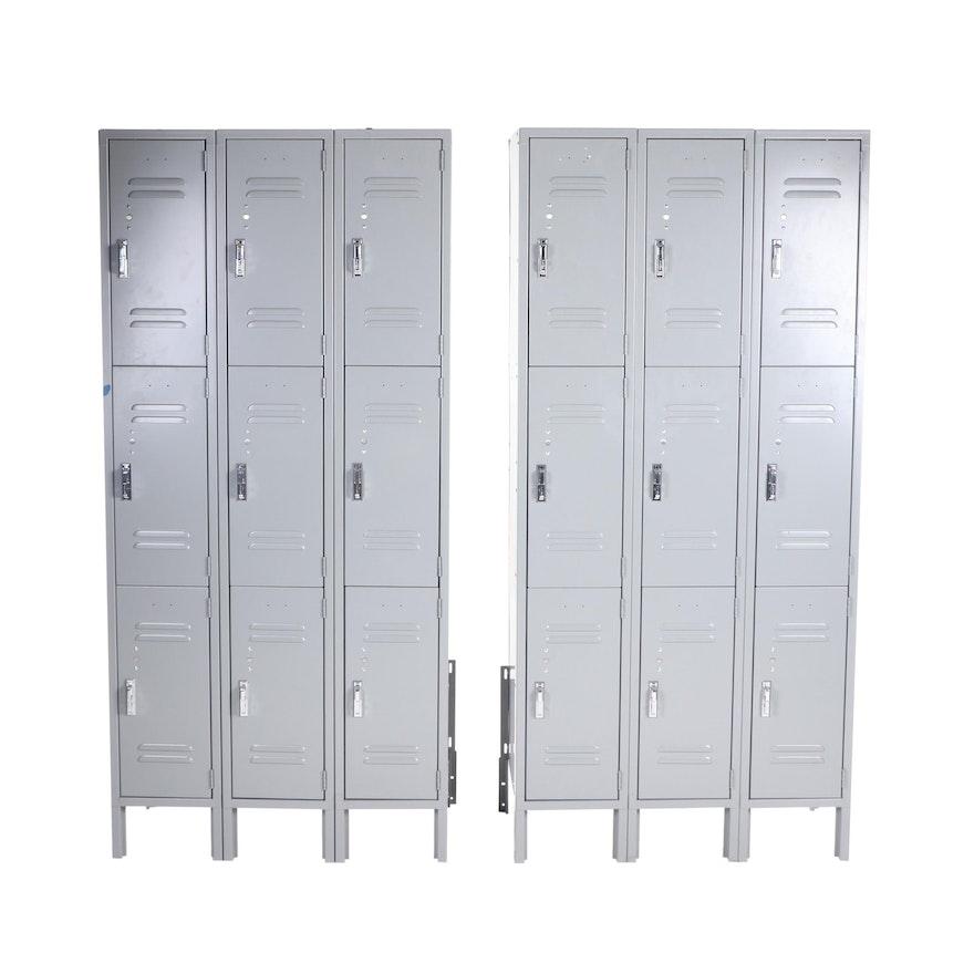 Pair of Standing Metal Lockers