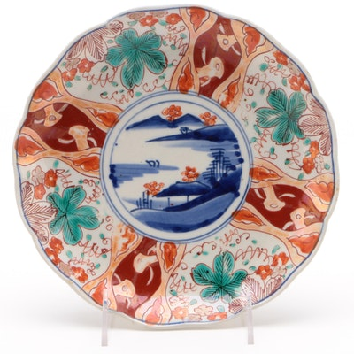 Scene Painted Japanese Imari Plate