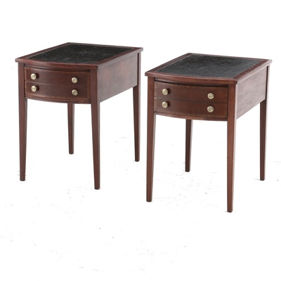 Pair of Hepplewhite Style Mahogany End Tables