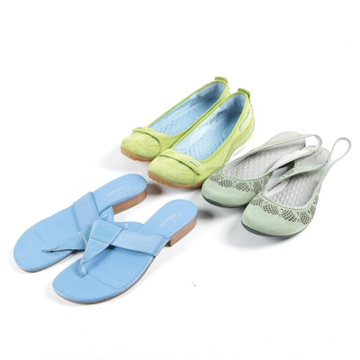 Women's Privo by Clarks Loafers and Slingbacks with Pappagallo Thong Sandals
