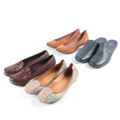 Leather and Suede Loafers and Mules Featuring Clark, Indigo and Merrell