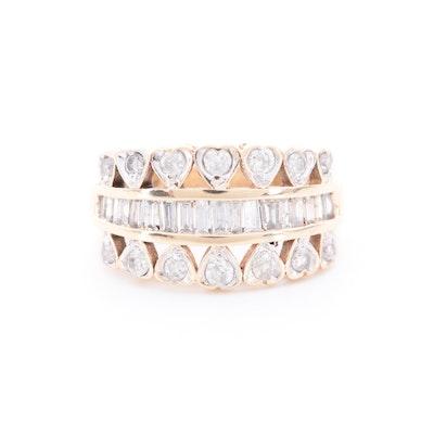 10K Yellow Gold 1.07 CTW Diamond Ring