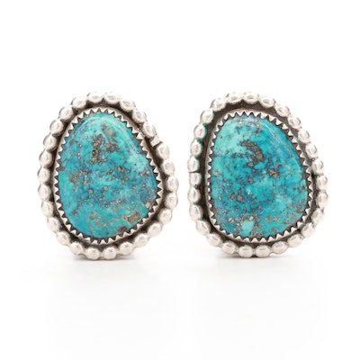 Southwestern Style Sterling Silver Turquoise Earrings