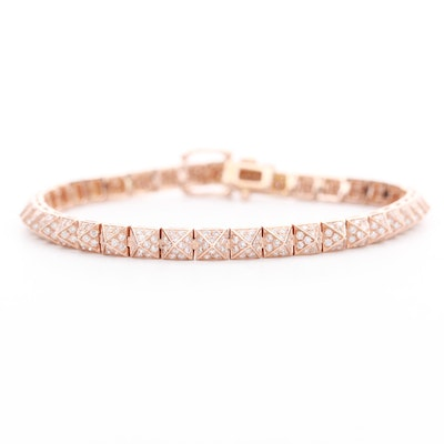 14K Rose Gold 2.40 CTW Diamond Bracelet
