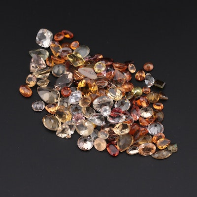 Loose 73.61 CTW Gemstones Including Garnet, Sapphire and Citrine