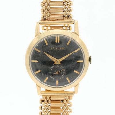 Vintage LeCoultre 14K Gold Stem Wind Wristwatvch