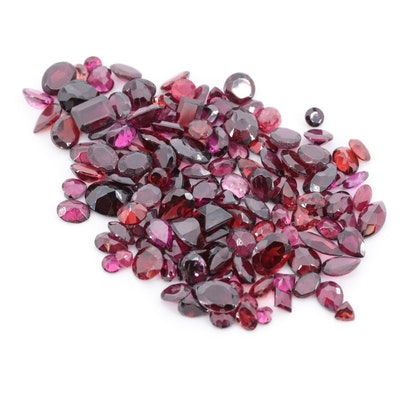 Loose 126.47 CTW Red Gemstones Including Ruby, Garnet and Tourmaline