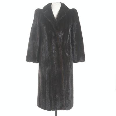 Dark Mahogany Mink Fur Coat from Giorgios Pappas Furrier New York