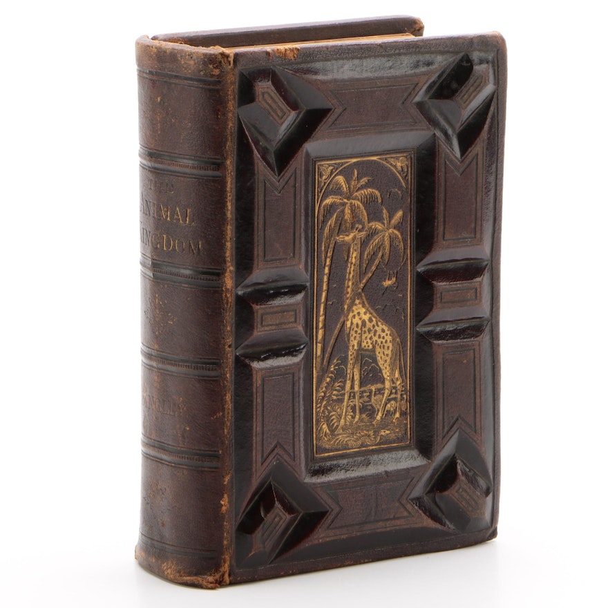 "Finely Bound ""The Animal Kingdom"" by Rev. W. Bingley, Circa 1880s"