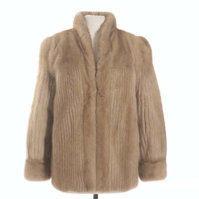 Corded and Full-Pelt Mink Fur Jacket, Vintage