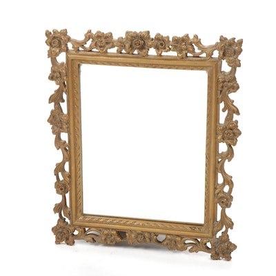 Syroco Wood Victorian Style Framed Mirror, Vintage
