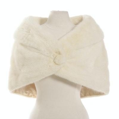 Vintage White Mink Wedding Stole