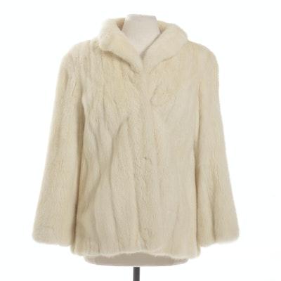 Tourmaline Mink Fur Jacket, Vintage