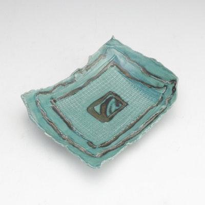 Azziro Hand-Crafted Art Pottery Dish