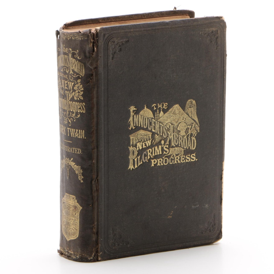 """1870 First Edition Early Printing """"The Innocents Abroad"""" by Mark Twain"""