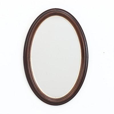 Victorian Walnut Wall Mirror, Late 19th-Century