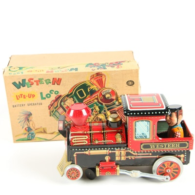 Modern Toys Battery Operated Western Lite-Up Loco