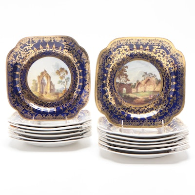 "Spode ""York"", ""Rosling Castle"", and Other Porcelain Plates"