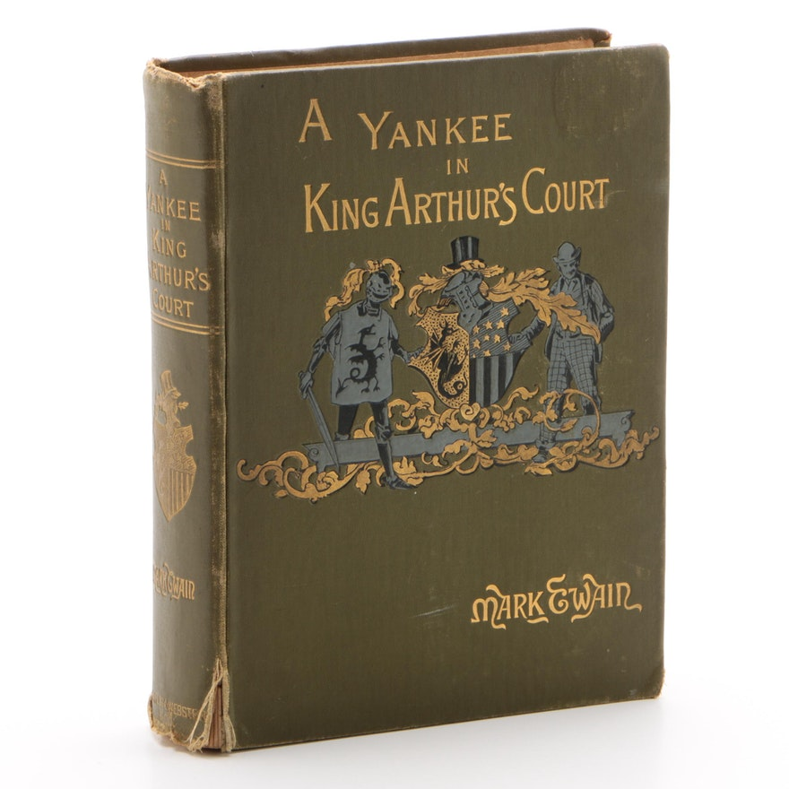 "1889 First Edition ""A Yankee in King Arthur's Court"" by Mark Twain"