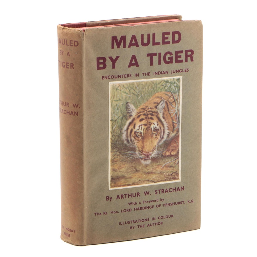 "1933 First Edition ""Mauled by a Tiger"" by Arthur Strachan"