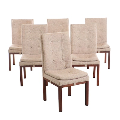 Six Danish Modern Style Dining Chairs, Circa 1980